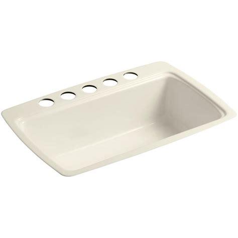 cast iron undermount kitchen sink kohler cape dory undermount cast iron 33 in 5 single 8067