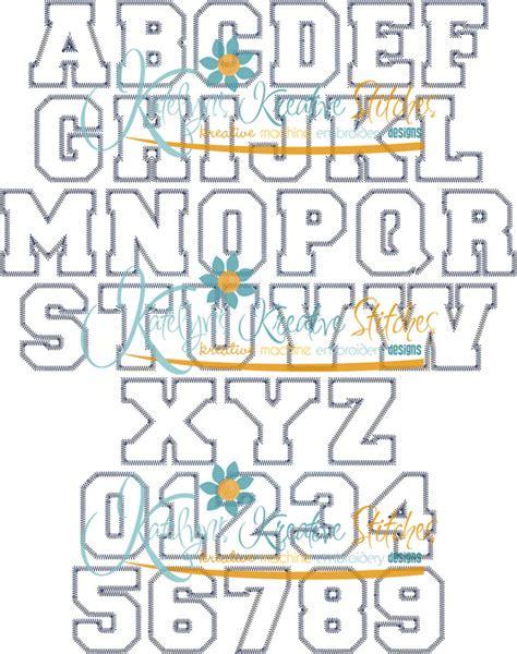 zig zag applique athletic applique zig zag font 5 sizes