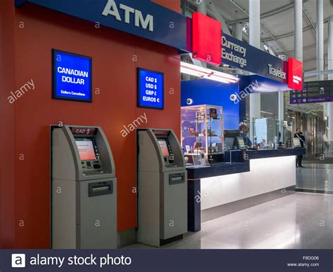 bristol airport bureau de change airport atm stockfotos airport atm bilder alamy