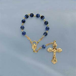 Lapis One Decade Finger Rosary