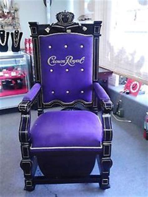 crown royal purple velvet and wood throne chair