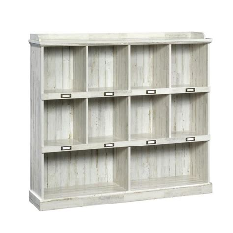 Sauder Bookcase White by Sauder Barrister White Plank Cubbyhole Bookcase