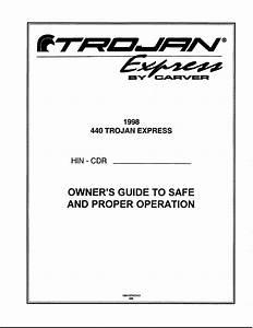 Carver 4410 1998 Owner U0026 39 S Guide