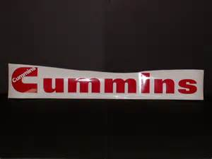 Cummins Windshield Decal