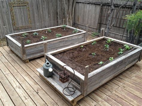 raised garden beds made from fence wood i got this