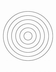 6 concentric circles clipart etc With bullseye chart template