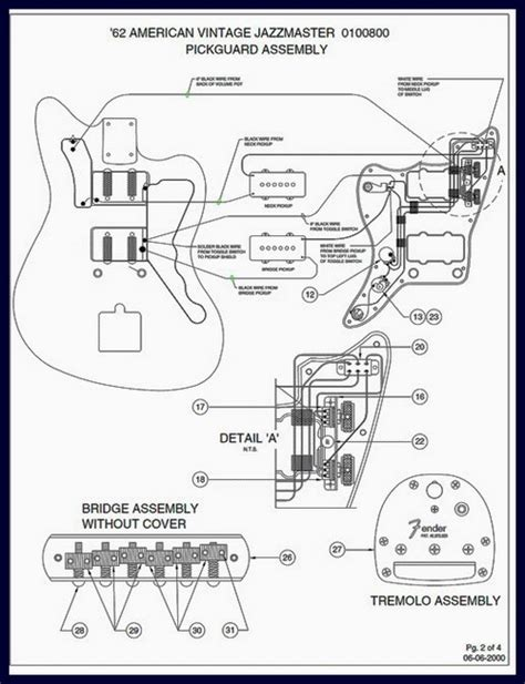 fender 1962 jazzmaster wiring diagram and specs