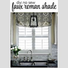 Diy No Sew Faux Roman Shade  Our Fifth House