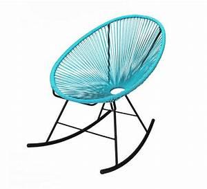 Salon De Jardin Acapulco : fauteuil acapulco rocking chair bleu turquoise 95 salon d 39 t ~ Teatrodelosmanantiales.com Idées de Décoration