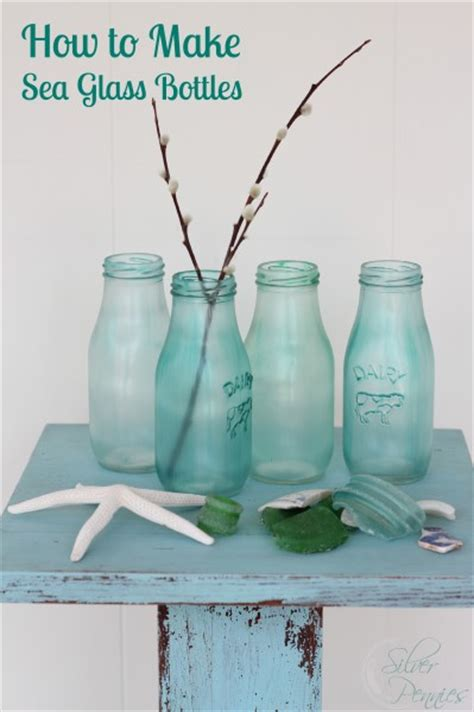 how to make glass l how to make sea glass bottles finding silver pennies