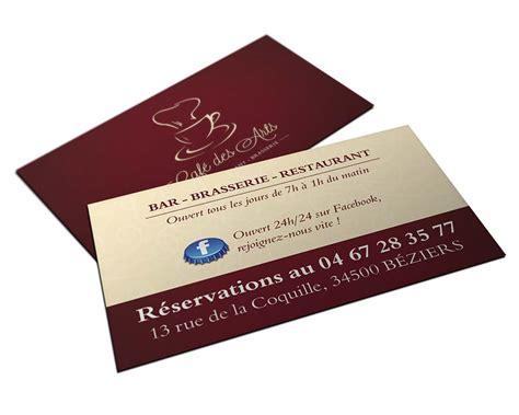 Carte De Visite Restaurant Design by Identit 233 Visuelle Et Cr 233 Ation De Logo Pour Restaurant 224
