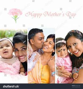 Happy Mothers Day Collection. Asian Indian Mother And ...