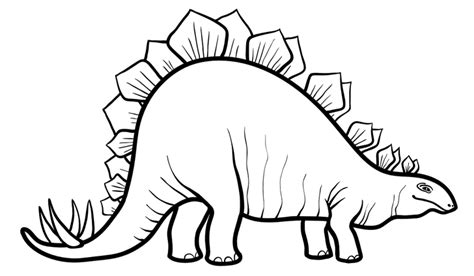 stegosaurus coloring page coloring pages stegosaurus dinosaur coloring pages for free