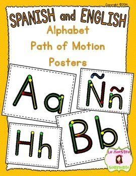 handwriting letter formation paths  motion posters