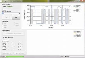 Video And Audio Latency Measurement