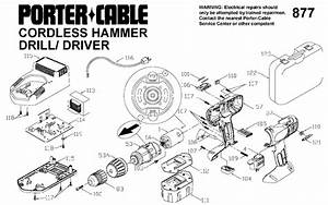 Porter Cable 877 14 4v Cordless Hammer Drill Parts  Type 1