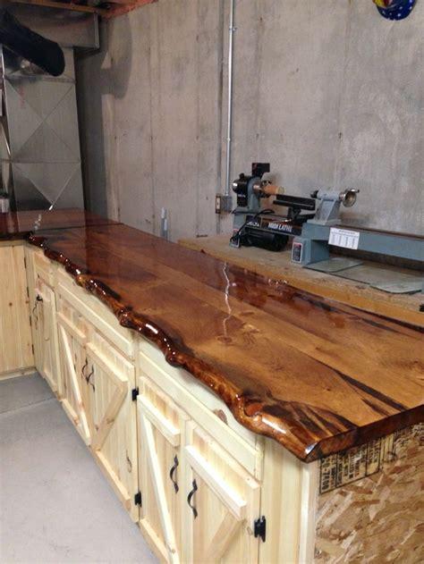 edge pine slab counter tops log cabin ideas