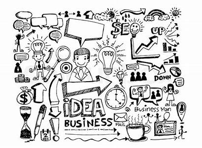 Doodle Doodles Business Hand Vector Icons Sketchnote