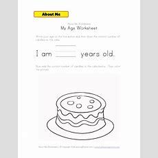 My Age Worksheet