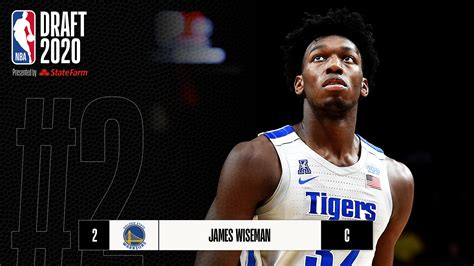 NBA Draft 2020: Golden State Warriors select James Wiseman ...