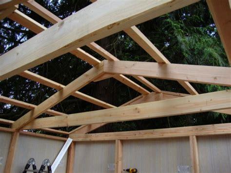 diy building a roof diy prefab 12 x12 storage shed tiny house design