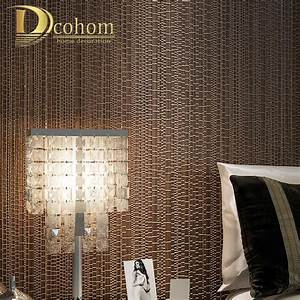 Modern Luxury Beige Blue Brown Textured Plaid Wallpaper ...