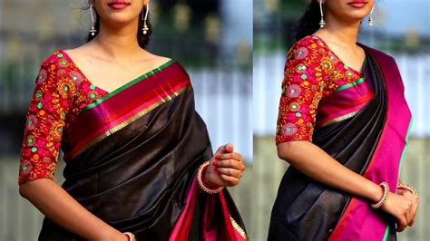 elbow length sleeves blouse design blouse design youtube