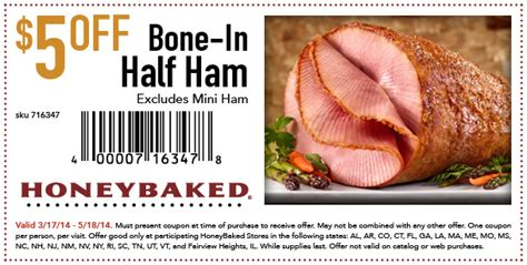 honey baked ham printable coupons honeybaked ham coupons 5 ham 3 turkey and 22132 | honeybaked
