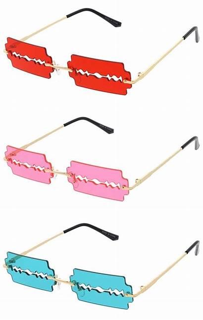 Blade Razor Sunglasses Edge Rimless Wholesale Cutting