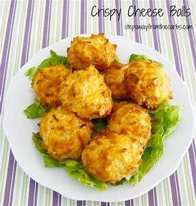 Crispy Cheese Balls low carb snack or party food recipe