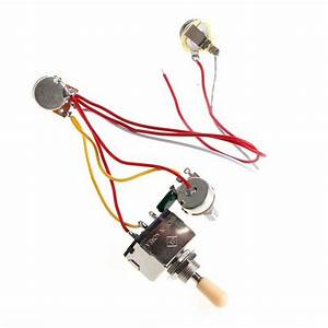 Guitar Wiring Harness 3 Way Toggle Switch 1v1t 500k For Lp