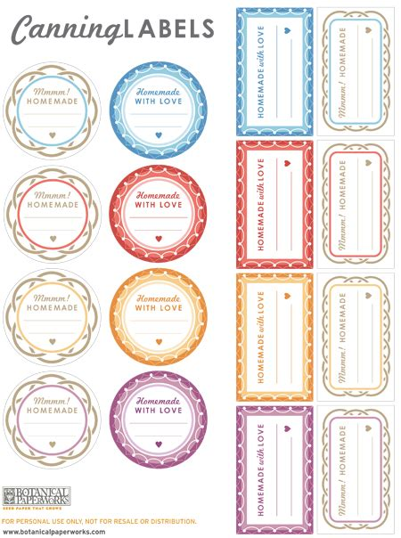 free printable jar labels template free printables canning labels for your goodies botanical paperworks