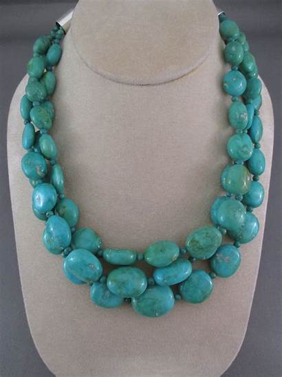 Turquoise Necklace Kingman Yellowhorse Jewelry Native American