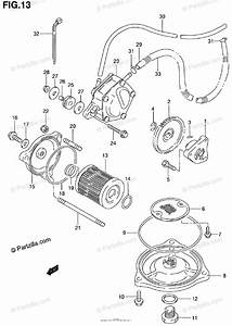 Suzuki Atv 2000 Oem Parts Diagram For Oil Pump    Fuel Pump
