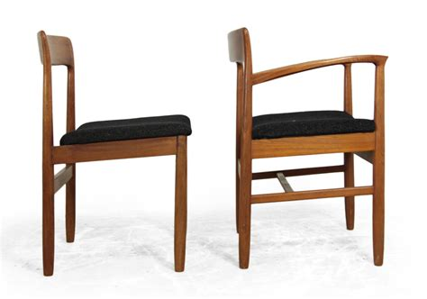 mid century teak dining chairs set of 6 for sale