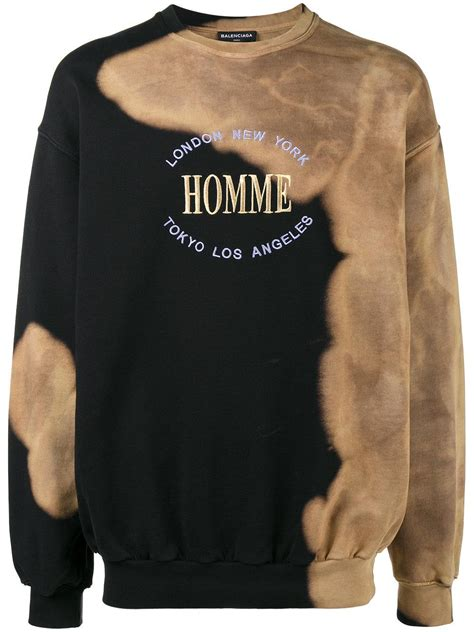 balenciaga oversized homme sweatshirt  black  men lyst
