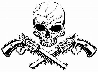 Crossed Clipart Skull Pistol Pistols Guns Drawings