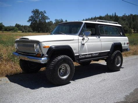1977 jeep cherokee chief purchase used 1977 jeep cherokee chief s 360 4 barrel