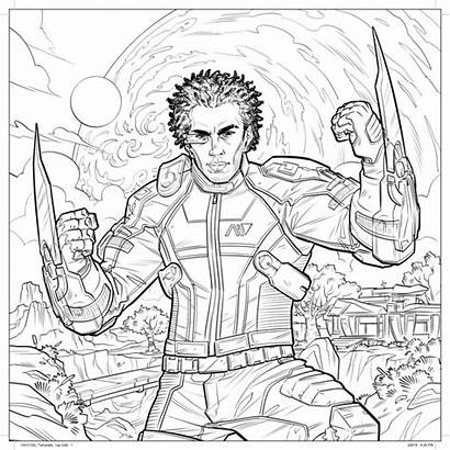 Coloring Adult Mass Effect Dark Horse Comics