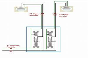 With Two Single Pole Switch Wiring Diagram Lights