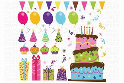 Birthday Party Clip Clipart Graphics Illustrations Transparent
