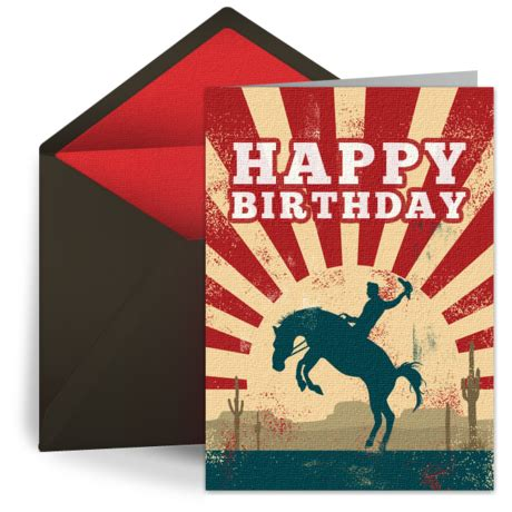 cowboy birthday  kids happy birthday ecard greeting card birthday wishes punchbowl