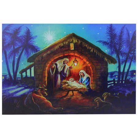 nativity bunny led fibre optic led fiber optic lighted nativity wall 15 75 quot x 23 5 quot walmart
