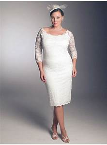 wonderful photos of plus size short lace wedding dresses With short plus size wedding dress