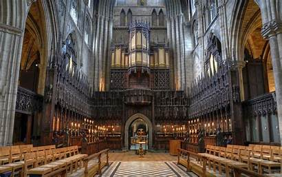 Ripon Cathedral Choir Wallpapers Architecture Medieval Interior
