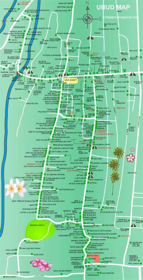 ubud map bali bali pinterest indonesien reisen und