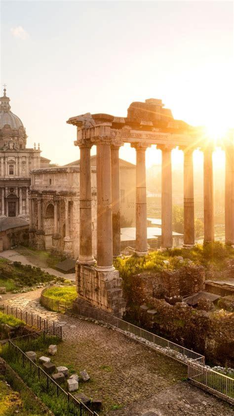 wallpaper forum romanum rome italy templum saturni