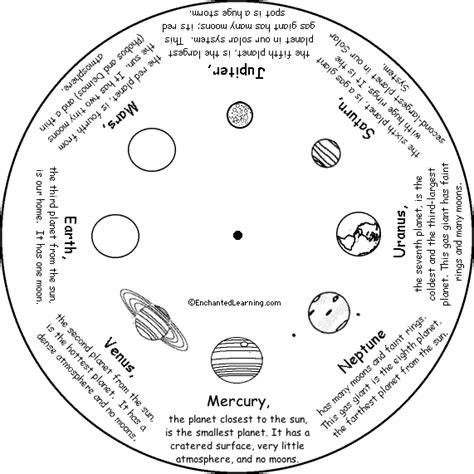 solar system worksheets free word wheel bottom printable worksheet enchantedlearning