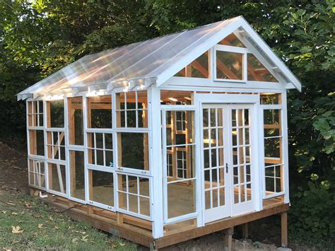 I found the windows on the side of the road quite a while ago and they have been occupying building with old windows. My greenhouse from old windows # ...