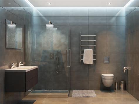 gemauerte dusche mit glas